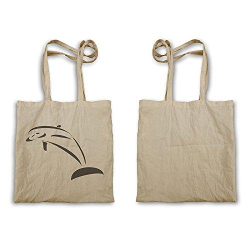 Delfino Vintage Novità New Funny Art Tote Bag C806r