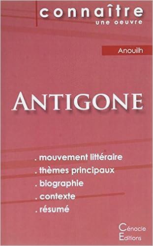 Amazon.fr - Fiche de lecture Antigone de Jean Anouilh (Analyse ...