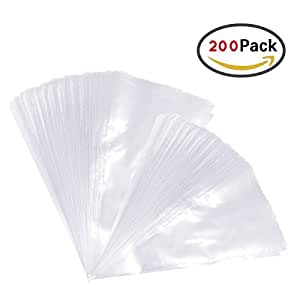 Sungpunet 200pcs Piping Bag Pastry Bags Thick 16 Inch and 12 Inch Disposable Decorating Bags Cake