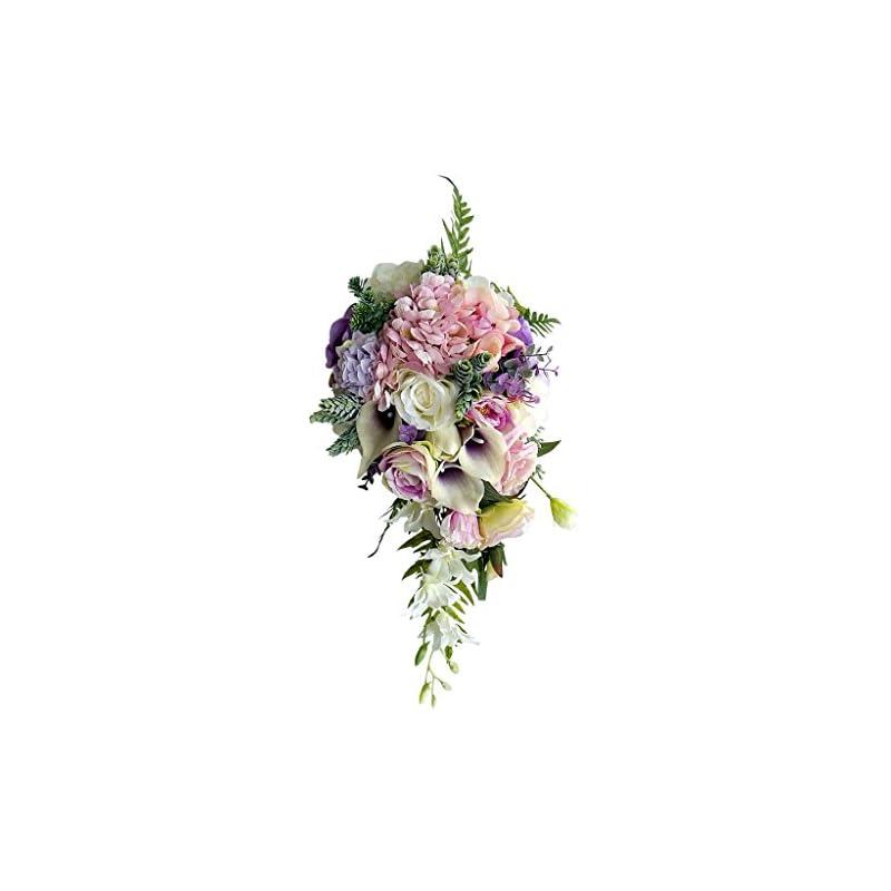 silk flower arrangements monkeyjack vintage waterfall style bridal bouquet artificial hand flower wedding prom decoration