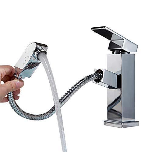 XINXI HOME Bathroom Sink Taps Copper Telescopic Bathroom Basin Faucet Bathroom Cabinet Washbasin Faucet???A