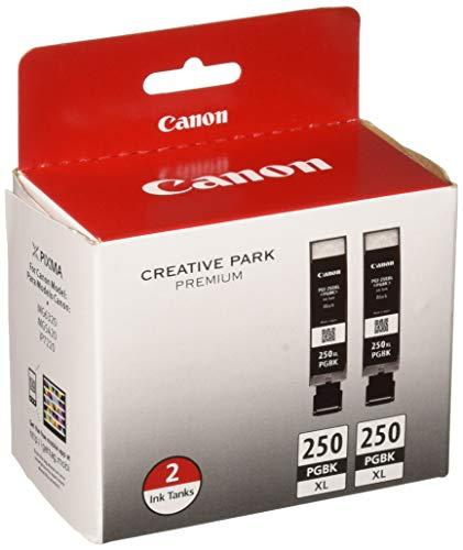 Canon PGI-250XL Black Ink Cartridges (6432B004), High Yield 2/Pack