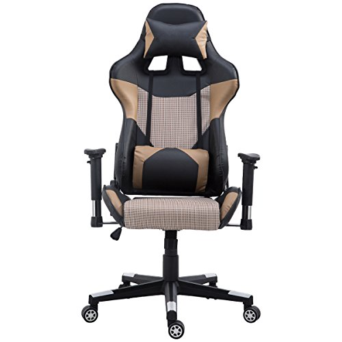 41b gnHNDgL - Executive-Gaming-Chair-Racing-Style-with-Lumbar-Support-and-Headrest-Office-Chair-High-Back-Brown