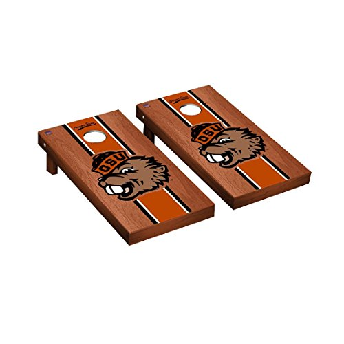 College Vault Oregon State Beavers Cornhole Board Set Rosewood Stained Stripe Version ()
