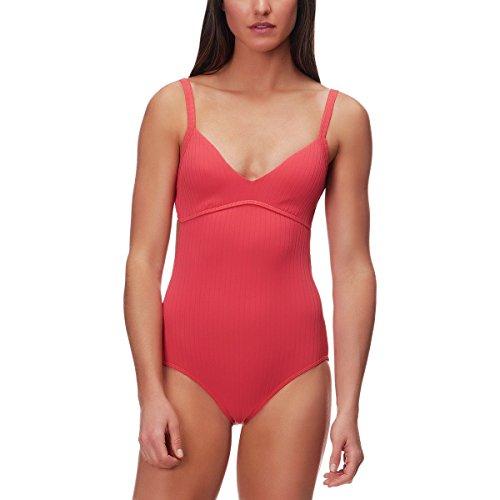 Rib Spa (Seafolly Women's Inka Rib Cut Out One Piece Swimsuit, Spice, 8 US)
