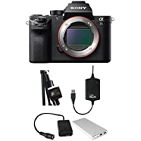 Sony Alpha a7S II Mirrorless Digital Camera, - Bundle With Case Relay Camera Power System, Case Relay Camera Coupler, Tether 10000mAh External Battery Pack, Tether Tools StrapMoore for Laptop Power