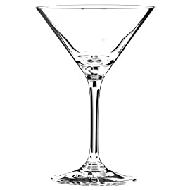 Riedel Vinum Crystal Martini Glass, Set of 4 1 Machine blown crystal Includes 4 stemmed glasses Designed for traditional and specialty martinis