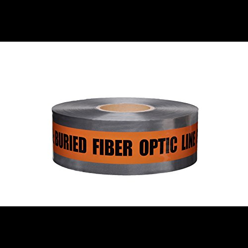 Fiber Print - Swanson DETO31005 3-Inch by 1000-Feet 5-MIL Detectable Tape Caution with Buried Fiber Optic Line Below Orange/Black Print