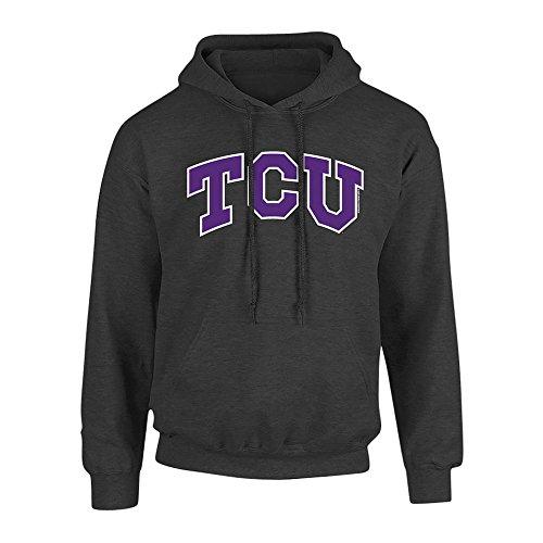 Elite Fan Shop TCU Horned Frogs Hooded Sweatshirt Charcoal - XXL (Texas University Christian)