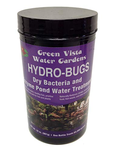 - Green Vista Hydro-Bugs Dry Beneficial Bacteria - 32 Ounces - Pond Algae Control - Probiotic Treatment - Reduces Sludge, Fish Waste, Uneaten Food - Improves Water Quality and Clarity - Koi, Plant Safe
