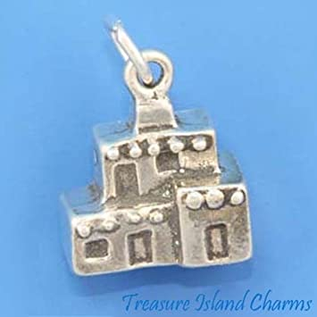 Pueblo Native American Adobe House 925 Sterling Silver Charm Pendant MADE IN USA