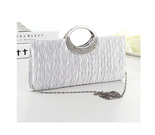 ulooie Fashion Damen Exquisite Abend Handtasche Strass Decor Schulter Clutch