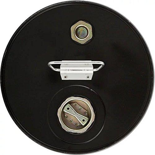5 Gallon Tight Head Steel Black Pail, Rust Inhibitor Unlined W/Trisure Fitting-2''Npt & 3/4''Npt