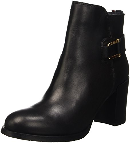 Tommy Hilfiger P1285enelope 8a, Zapatillas de Estar por Casa para Mujer Negro - Schwarz (Black 990)