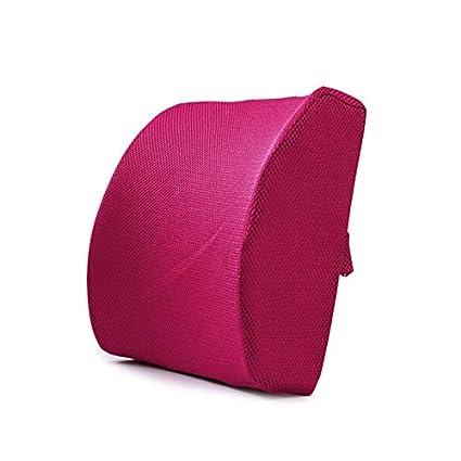 Almohada ortop/édica de la Cintura de la Memoria de la Memoria para la Silla de la Oficina en casa del Coche JIALONGZI Coj/ín de la Almohada de la Parte Posterior de la Ayuda Lumbar