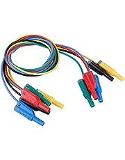 Akozon 5 unids Multímetro de Cable de Conector banana, P1050-1 4mm conector banana al pinzas de cocodrilo