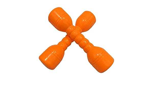 Amazon.com : NiceButy Kids Plastic Dumbbell Toy for Morning Exercises Fitness Sport Toys Children Fun Toy (Orange) 2Pcs : Sports & Outdoors
