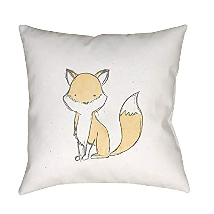Best Pillow 2020.Amazon Com Jumpinglight Nursery Fox Poly Fill Pillow Brown
