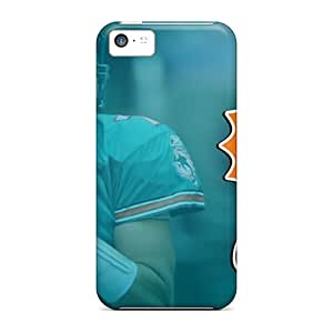Perfect Hard Phone Case For Iphone 5c (hyB13656QGGS) Provide Private Custom Colorful Miami Dolphins Image