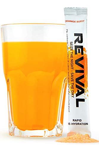 41b itgA9nL - Revival Hangover Cure, Prevention and Treatment - Rapid Hydration, Electrolyte Packets Alcohol Recovery Drink, Remedy, Relief - Orange Burst 6 Pack