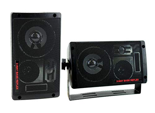 ([WALLER PAA] 2 2060 300W 3-Way Car Audio Mini Box Speakers Stereo System Indoor)