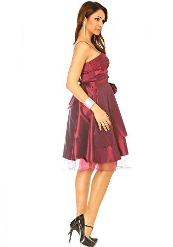 dmarkevous - Robe de cocktail prune satiné très chic. Robe de soirée, mariage, cocktail - S, violet