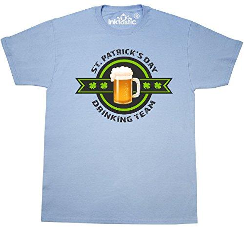 inktastic ST Patricks Day Drinking Team With T-Shirt Medium Light Blue 2e438 (Light Drinking T-shirt Team)