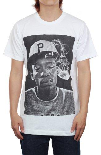 Wiz Khalifa T-Shirt Smoking Hip Hop New White Music Tee (M)