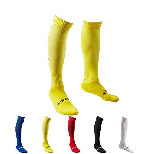 5 Pair Men's Long Athletic Football / Soccer Socks,Sport Tube Socks,Over the Knee High Cotton Socks,Over-the Calf Socks