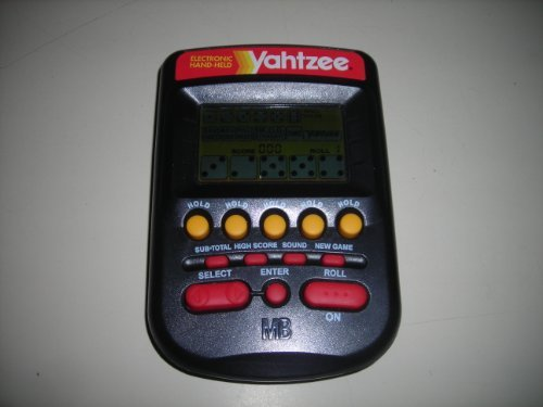 Milton Bradley Electronic Handheld Game - 1995 Milton Bradley Yahtzee Hand Held Game, Works Great