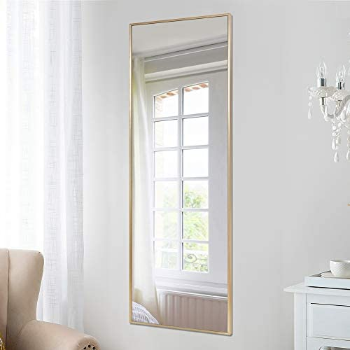 PexFix Full Length Mirror 55 x16 Aluminum Alloy Frame Door Mirror Hanging Mirror Floor Mirror Wall Mounted Mirror