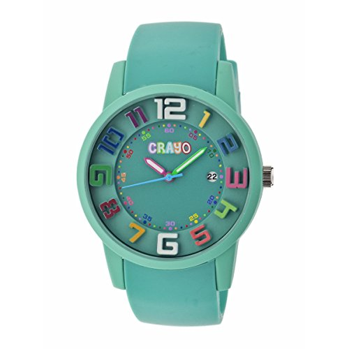 crayo-womens-cr2003-festival-teal-silicone-watch