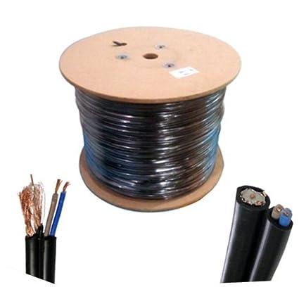 Taha® 305 m Cable de alimentación nuevo CCTV securitycamera DVR RG59 Coaxial Antena 2 Video