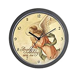 CafePress Angels Watching Wall Clock - Standard Multi-color