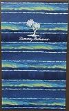 Tommy Bahama Blue/Green Striped Beach Towel - 40'' X 70'' - 100% Cotton