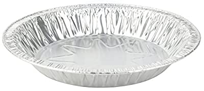 """MT Products 8 Inch Outer Rim Disposable Aluminum Foil Tart/Pie Pan 1.25"""" Deep - Inside Measures 7 inches x 1.25 inches -(Thicker 45 Gauge) (35 Pieces)"""