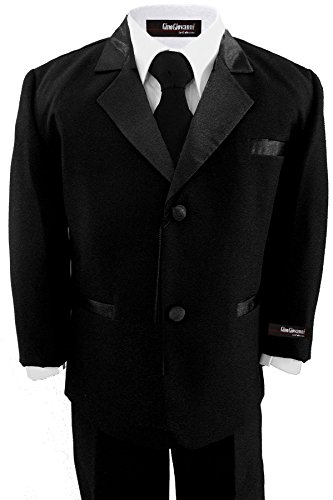 Little Boy's Formal Dresswear Set G211 (2T, Black Tux) by Gino Giovanni