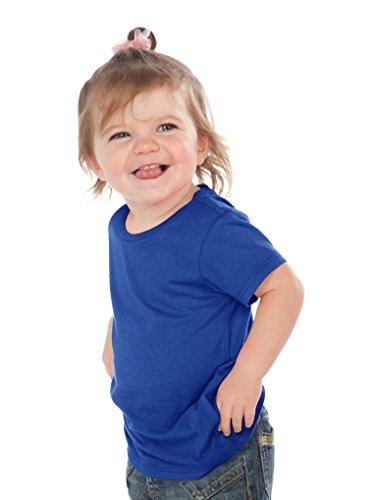 (Kavio! Unisex Infants Crew Neck Short Sleeve Tee (Same IJP0493) Cobalt Blue 6M)