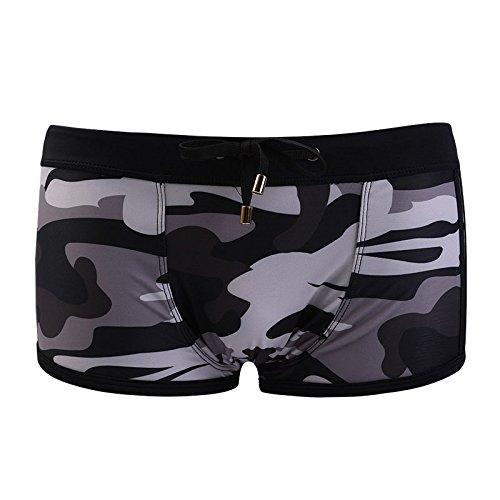 Amyove Troncos de natación de los Hombres Pantalones Cortos de la impresión de Secado rápido Pantalones Inferiores Planos...