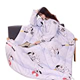 2019 Auwer Winter Lazy Quilt with Sleeves,Anti-Kick