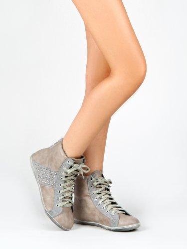 Vintage Black Fashion Annabelle Pu Womens 6 Sneakers 02 5 vrHfvOq