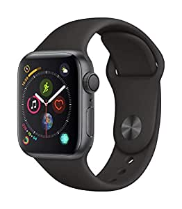 Apple Watch Series 4-40mm Space Gray Aluminum Case with Black Sport Band, GPS, watchOS 6
