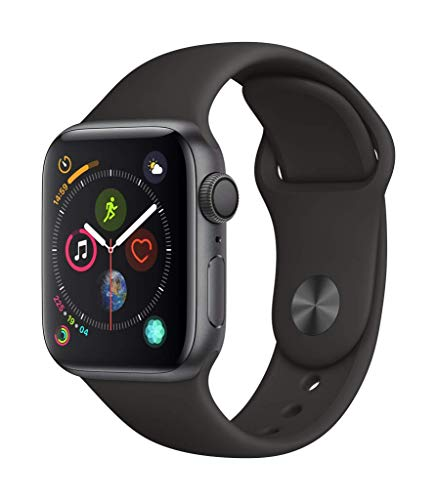 Apple Watch Series 4 (GPS, 40mm) – Space Gray Aluminium Case with Black Sport Band