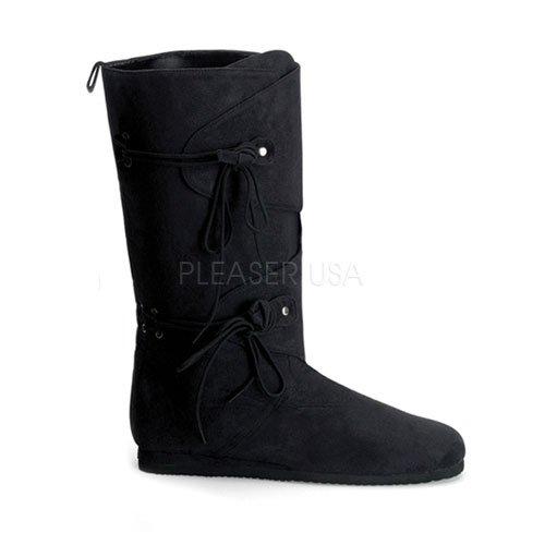 [Women's Suede Renaissance Boot (Black Microfiber;10)] (Suede Renaissance Boot Costumes)