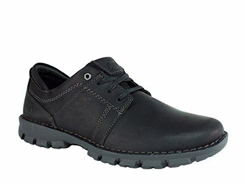 Caterpillar Men's Caden Lace Up Shoes, Black Leather, 10 M