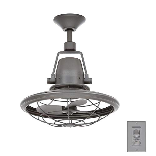 Home Decorators Collection Bentley II Indoor And Outdoor 18 Inch Natural Iron Oscillating Ceiling Fan With Wall Control