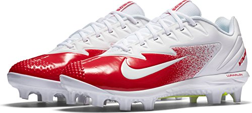 Nike Men's Vapor Ultrafly Pro MCS Baseball Cleats (12 D(M) US, White/University Red)