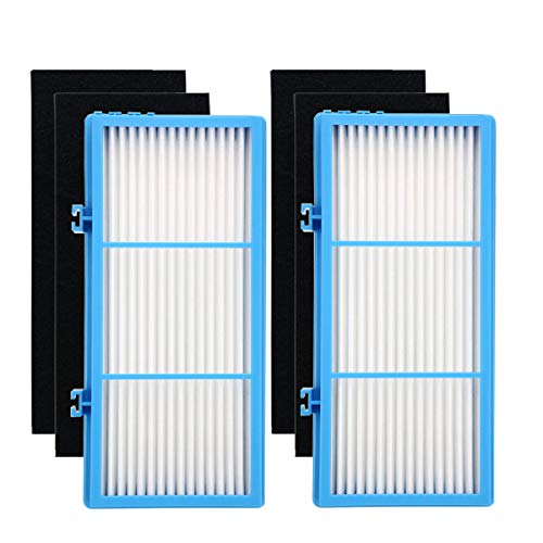 Yoodelife Replacement HEPA Filters for Holmes HAPF30AT Total Air Purifier AER1 Series (2 Packs) and Carbon Booster Filters for Holmes HAP242-NUC (4 Packs) by Yoodelife
