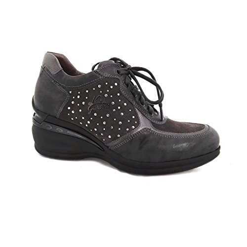 NERO GIARDINI donna sneakers zeppa A616071D/109 37 Piombo