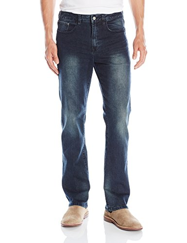 IZOD Men's Comfort Stretch Relaxed Fit Jean,40x32,Iron Blue (Relaxed Denim Fit)